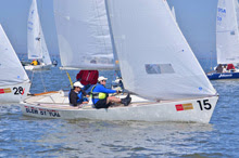 J/22 sailing upwind at Midwinters- New Orleans