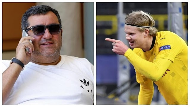 MINO RAIOLA AND HAALAND'S FATHER LAND IN BARCELONA