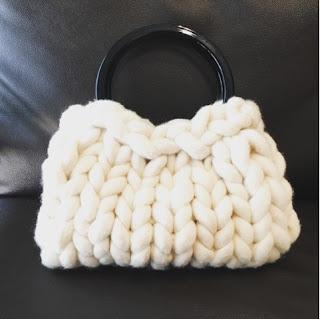 超極太毛糸 bickyで編んだバッグ 編み方