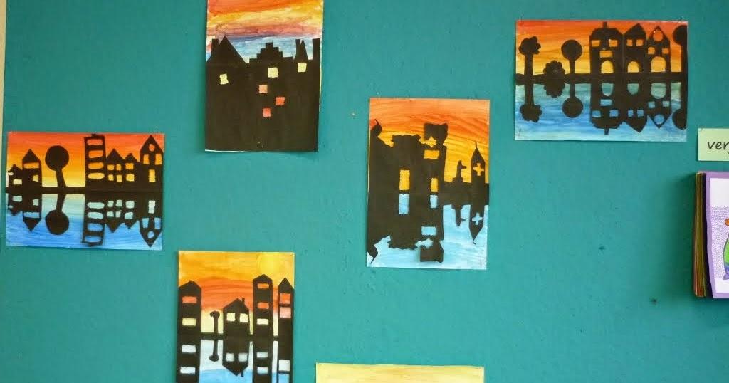 Welkom in het zesde leerjaar eindresultaten van de schilderwerken met warme en koude kleuren - Wat zijn de warme kleuren ...