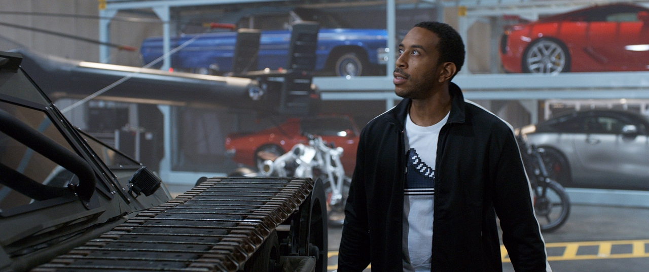 """Chris """"Ludacris"""" Bridges in THE FATE OF THE FURIOUS. (Photo courtesy of Universal Pictures)."""