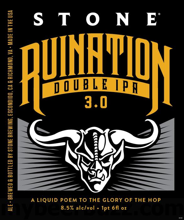 Stone Ruination 3.0 22oz bottles