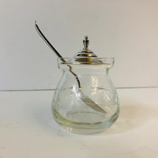 Sterling Silver & Glass Jam Jar