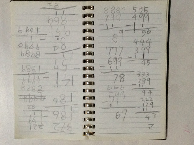 The Example of New Subtraction With Borrow 新減法借位的實例
