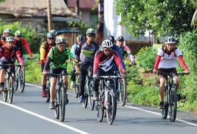 Jelang Lomba Sepeda 100 K, Biker Dishut Siapkan Fisik dan Mental