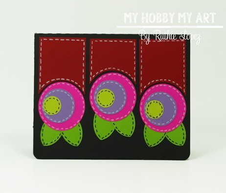 Posies trio a6 card, SnapDragon Snippets, Ruthie Lopez, My Hobby My Art