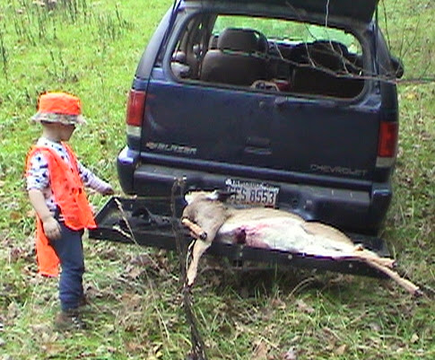 Lil Goober inspects the doe, 2002