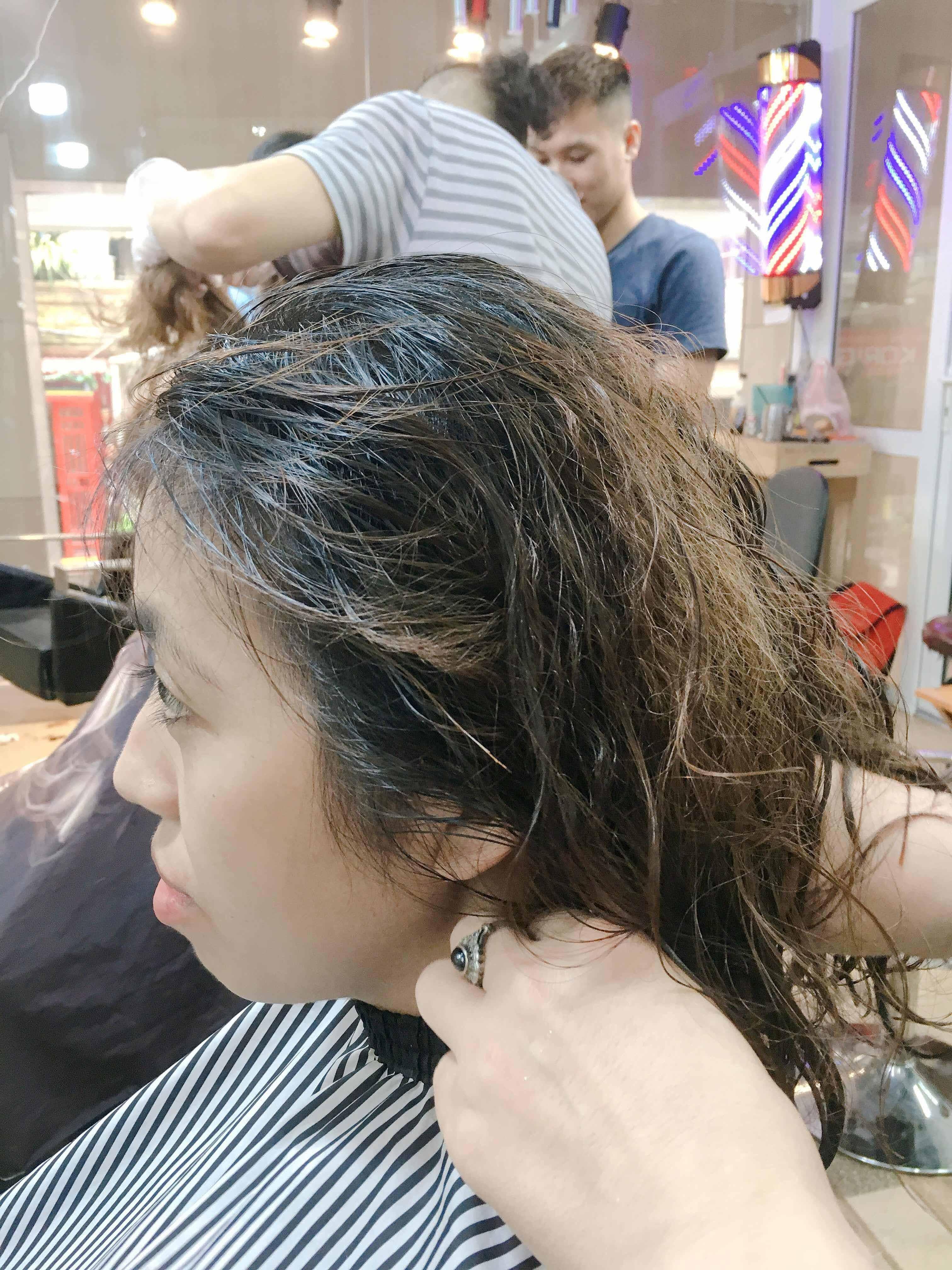 Tóc tơ mỏng dập xù nát bét biến thành tóc Tomboy bồng bềnh xinh đẹp