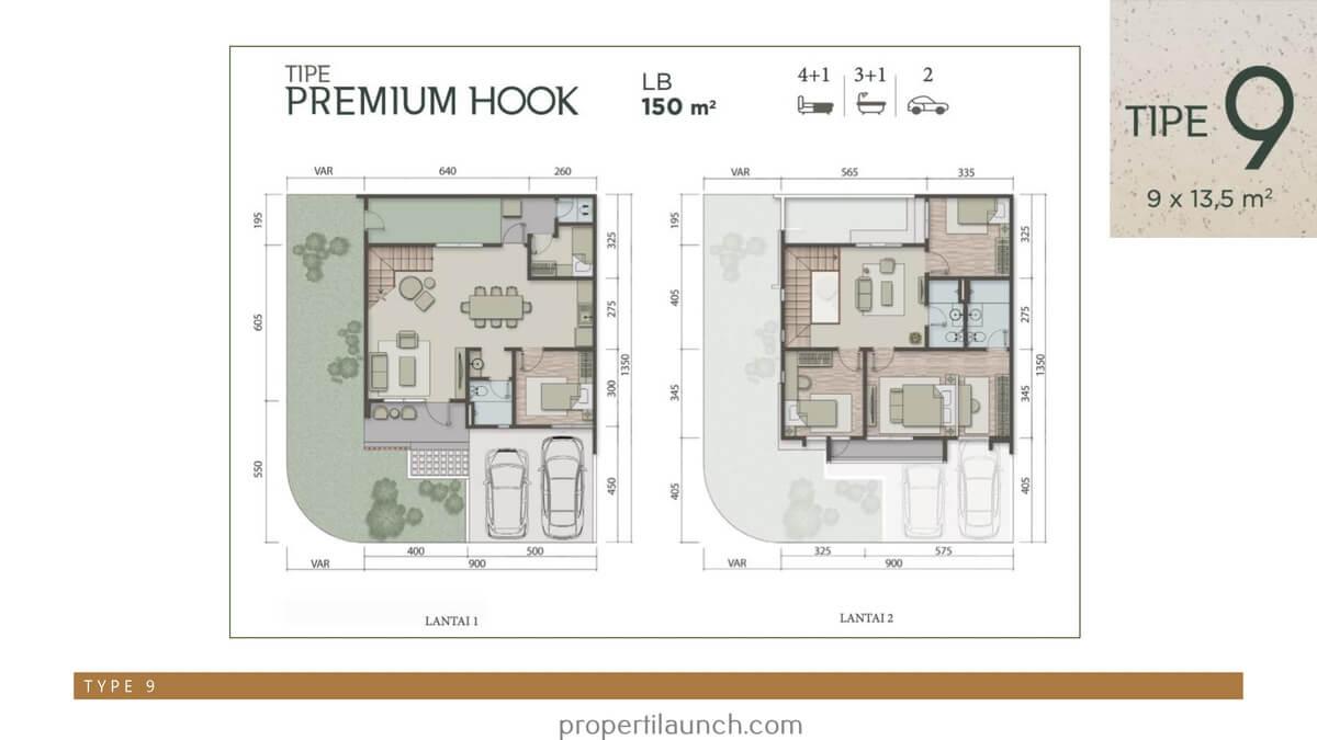 Rumah Carson Summarecon Serpong Tipe 9 Premium Hook