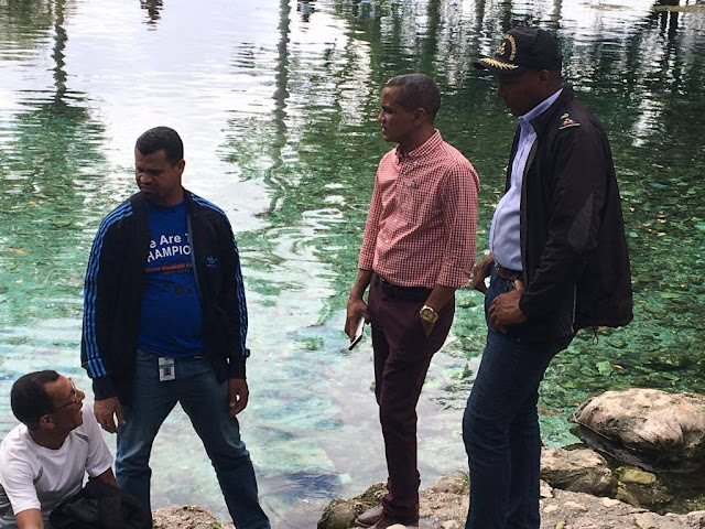 """BAHORUCO: Alcaldes de Neiba y Galván denuncian quieren apropiarse del reconocido balneario """"Las Marías""""."""