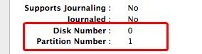 Disk number dan partition Number