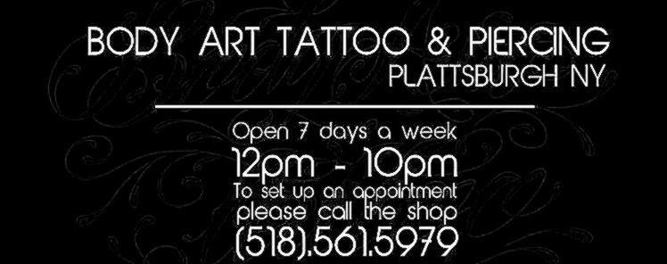 Body Art Tattoo Piercing Plattsburgh Ny