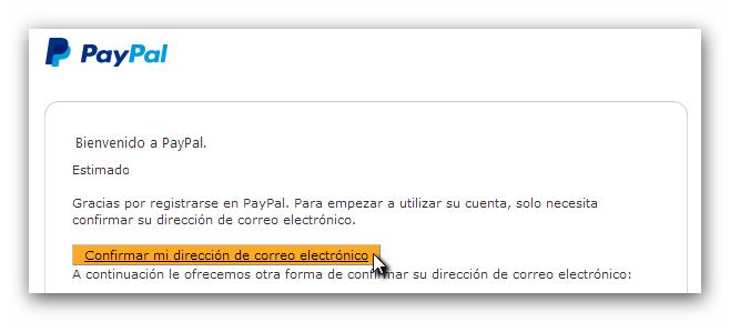 Verificar PayPal
