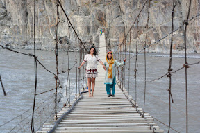 Dangerous bridge in Gilgit Baltistan.