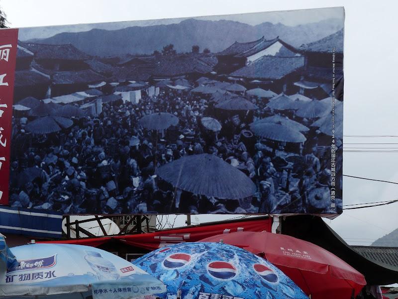 Au marché actuel,photo de Joseph Rock, prise au 19 ème siècle