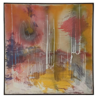 Signed Large Scale Abstract Painting 1971