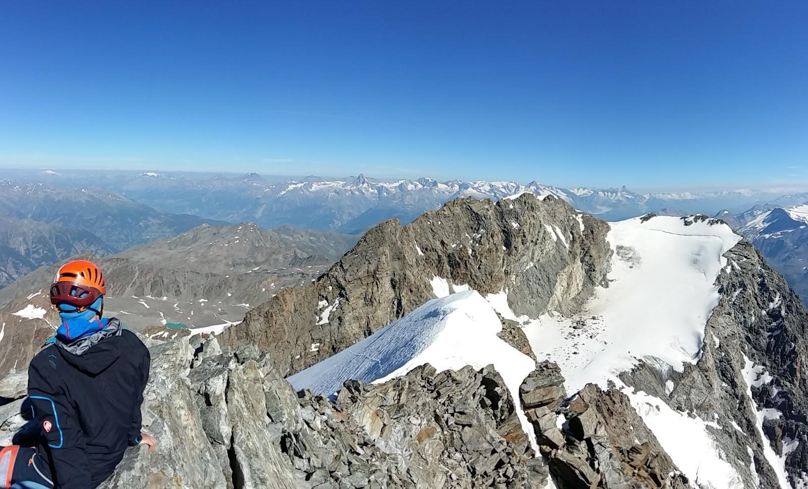 Klettersteig Jägihorn : Juli lagginhorn m und jägihorn über