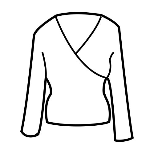 Long sleeve blouse, free coloring pages