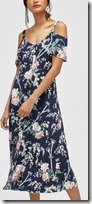 Warehouse Toile de Jouy Floral Midi Dress