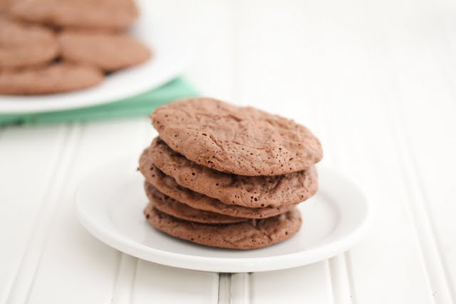 photo of a stack of brownie cookies