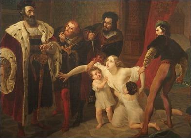 O Assassínio de Inês de Castro de Karl Briullov 1834