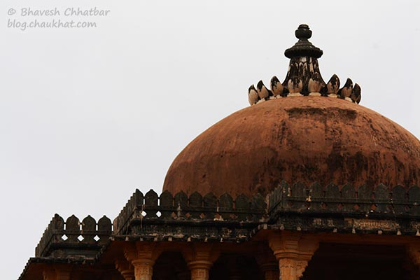 Close-up of a dome of Kumbhalgarh