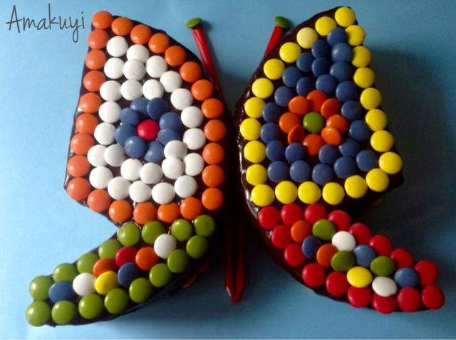 Tarta-mariposa-lacasitos-chocolate-niños-fiestas