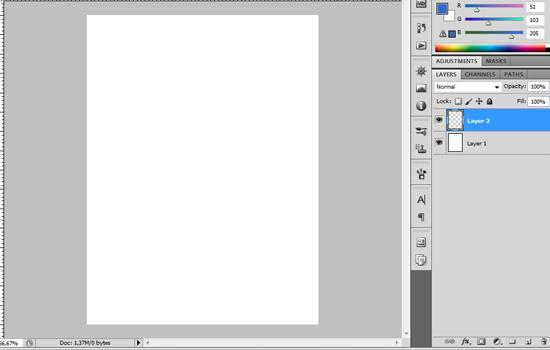 Novo documento, tamanho 600 x 800 pixels