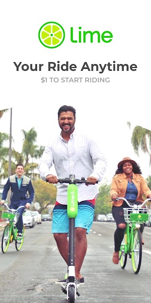Lime - Your Ride Anytime Android App Screenshot