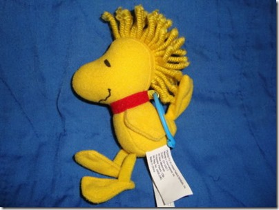 Woodstock Plush Backpack Clip Wendy Restaurant 4.5 inches
