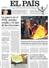 Photo: Atenas arde contra los recortes. Estalla la guerra en el PSOE andaluz. La reforma laborar facilitará los ERE en el sector público. Son algunso de los temas de nuestra portada del lunes 13 de febrero http://www.elpais.com/static/misc/portada20120213.pdf