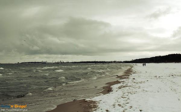 plaża gdańsk jelitkowo zimą