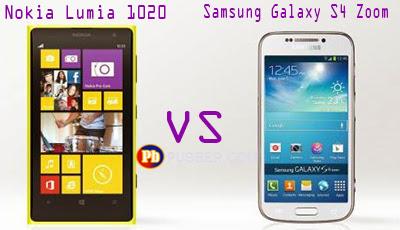 Perbedaan Nokia Lumia 1020 vs Samsung Galaxy S4 Zoom