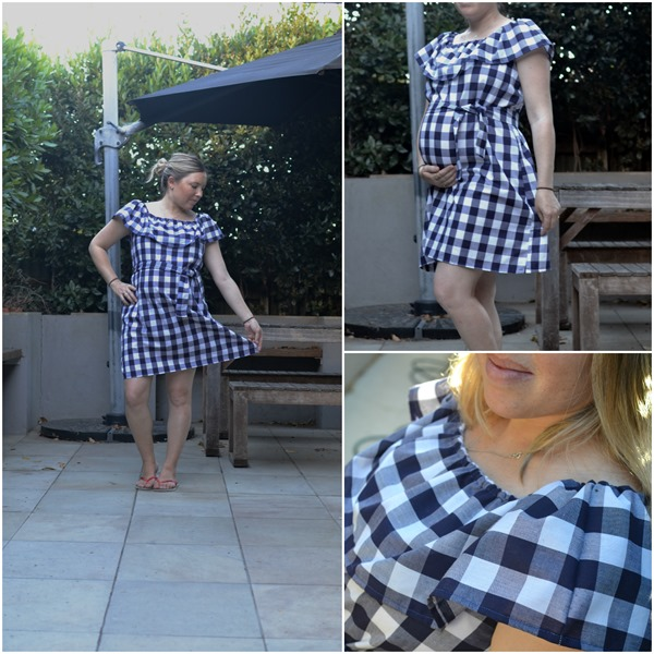 Gingham Ruffle dress 2
