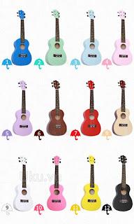 đàn ukulele concert màu trơn