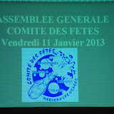 Assemblée générale 2012 et repas des bénévoles