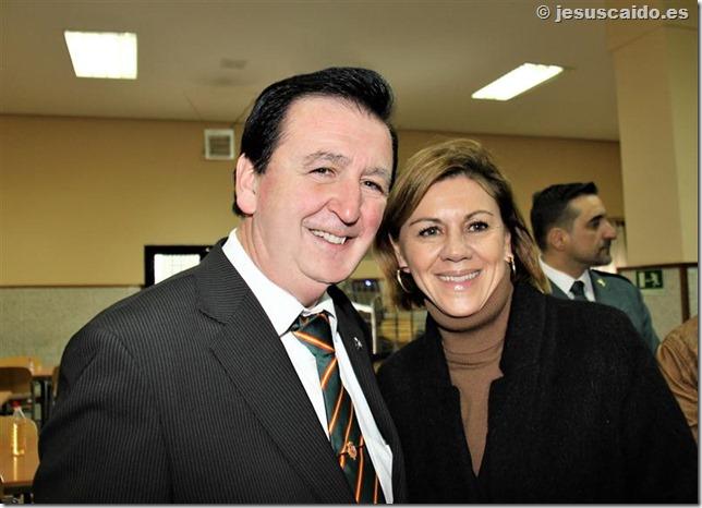 Con la Ministra de Defensa