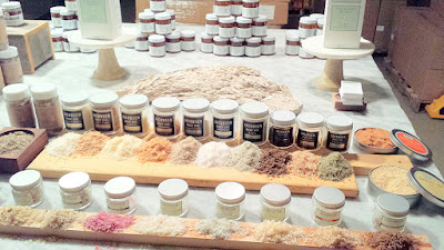 A rainbow of the various types of Jacobsen Sea Salt flavors