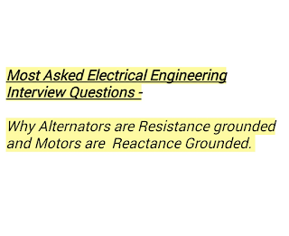 Frequeny asked Electrical Engineering Interview Questions and Answer from Alternator and Machine