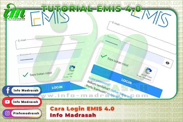 Cara Login EMIS 4.0 - Info Madrasah