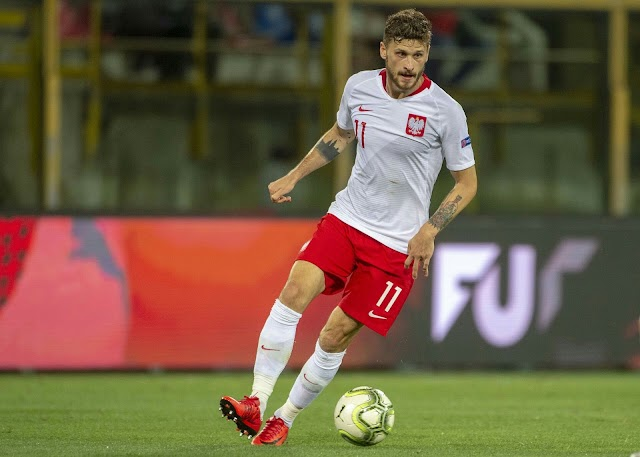 Leeds United star, Mateusz Klich tests positive for coronavirus, ruling him out of Poland's World Cup qualifier against Hungary