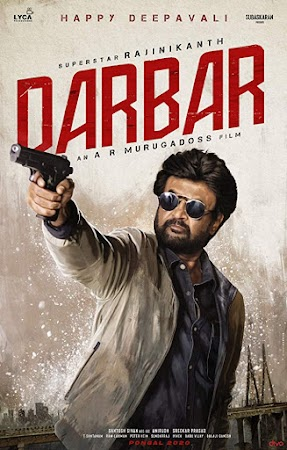 Poster Of Darbar In Dual Audio Hindi Tamil 300MB Compressed Small Size Pc Movie Free Download Only At worldfree4u.com