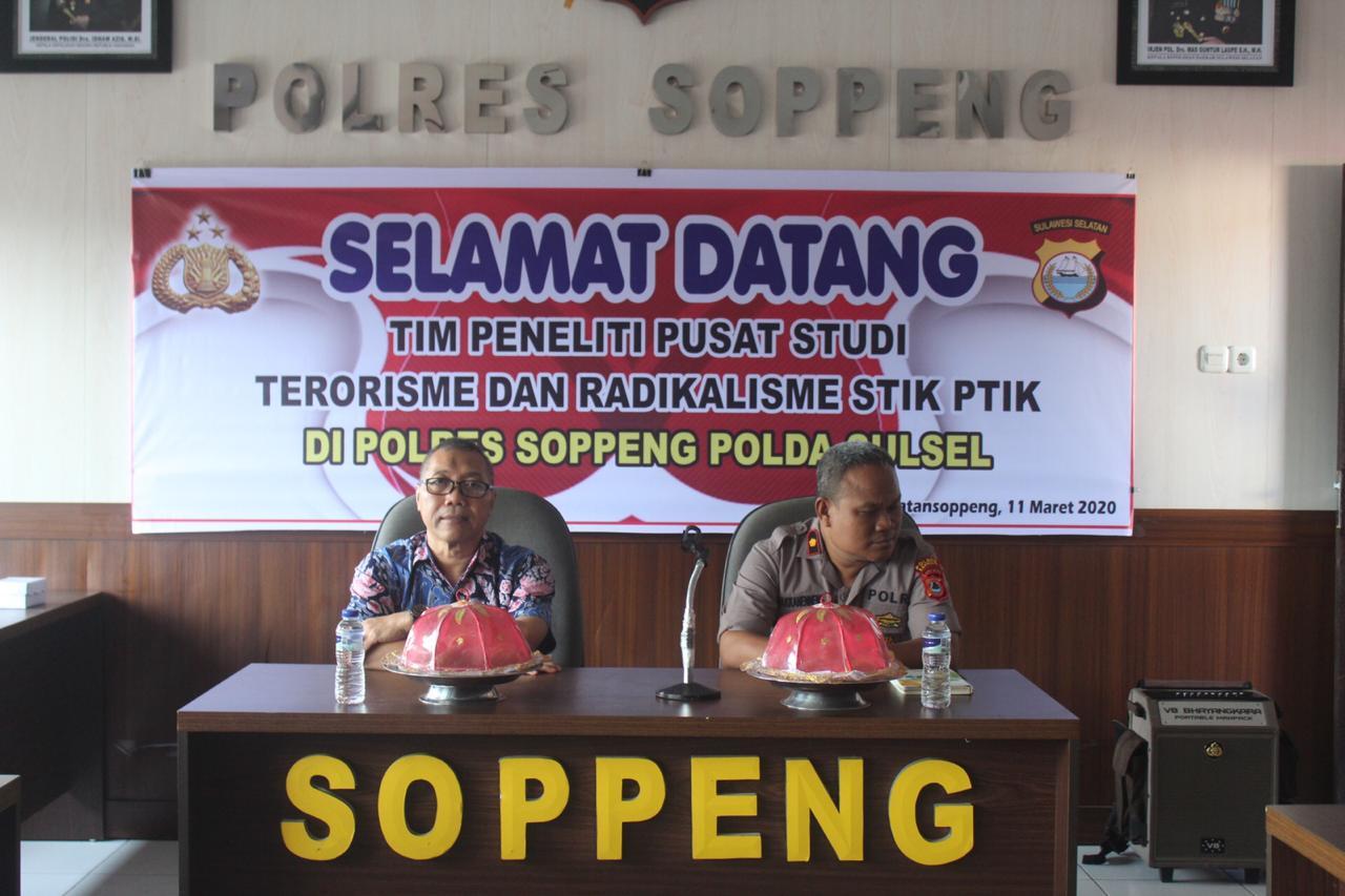 Tim Penelitian STIK Lemdiklat Polri Laksanakan Kunjungan di Polres Soppeng