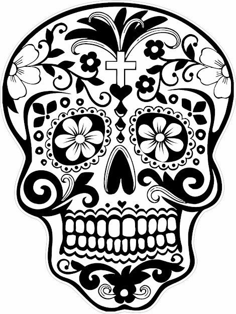 Latest Sugar Skulls Coloring Pages Free Download