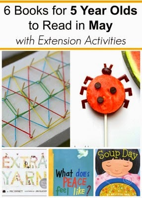 May Book Picks for 5 Year Olds with Extension Activiities