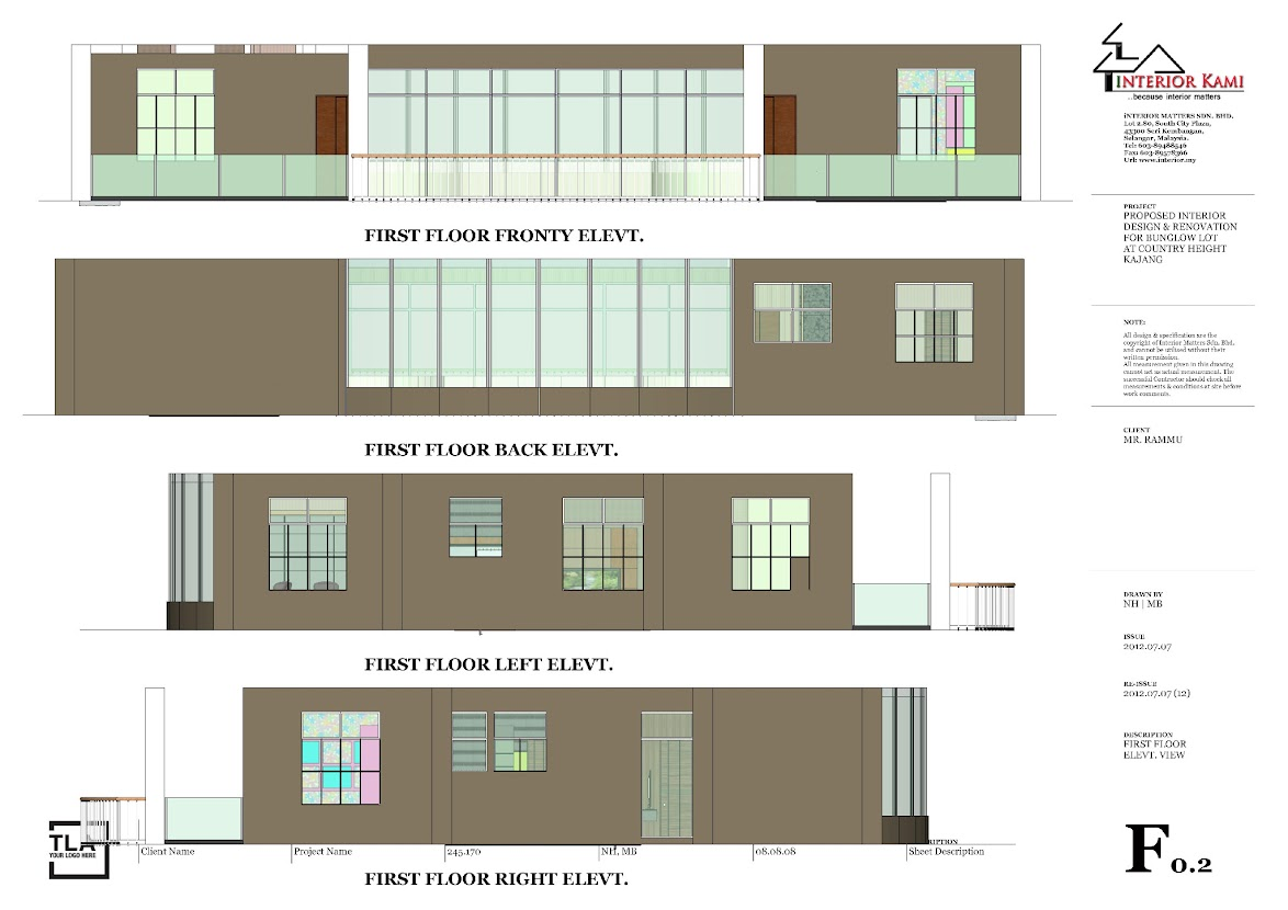 2nd floor elevation view for bunglow at country height