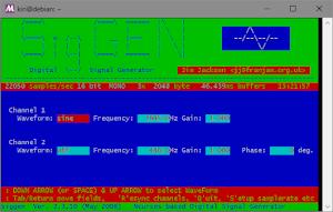 linuxのSignalGenerator(siggen)