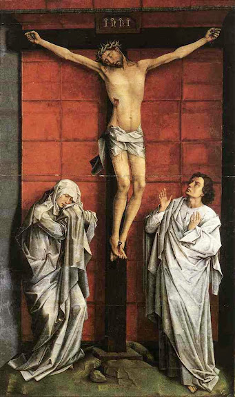 Rogier van der Weyden - Christ on the Cross with Mary and St John