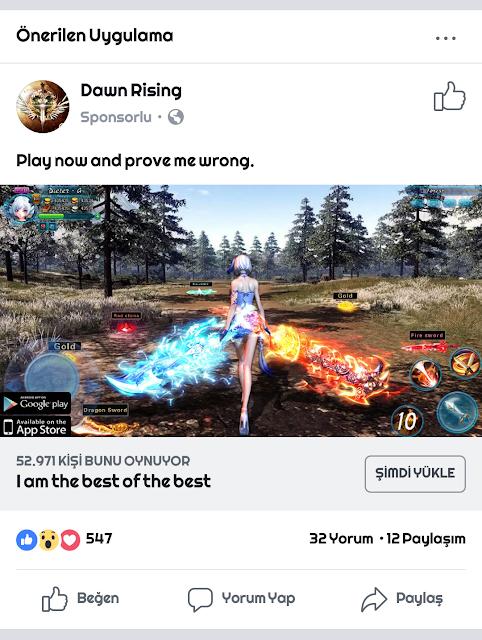 Down Rising Oyunundan Sahte Görseli Reklamlar