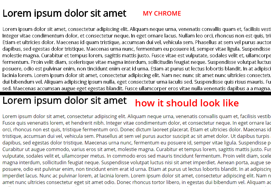Chrome is rendering incorrectly OPEN SANS web font - Ajuda